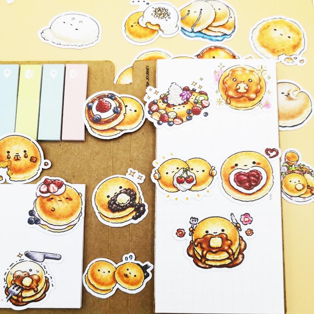 Купить с кэшбэком 20/40pcs Cute Burger Bread Food Decorative Stickers DIY Decorative Diary Stickers School Stationery