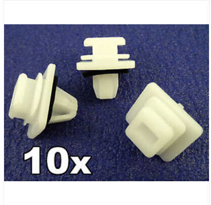 10 x VOLKSWAGEN DOOR MOULDING WHEEL ARCH BOOT PANEL TRIM CLIPS