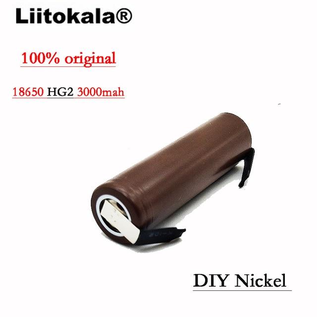 €2.78 25% СКИДКА|Liitokala Новый 18650HG2 HG2 18650 3000 mAh аккумулятор 3,6 V загрузки 20A, предназначен для батарей + DIY никель|hg2 18650|battery 3.6v|battery a - AliExpress