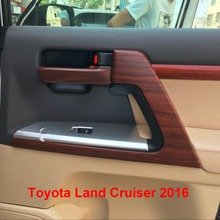 Interior Door Handle Styling Mouldings For Toyota Land Cruiser V8 LC200 2016 Accessories