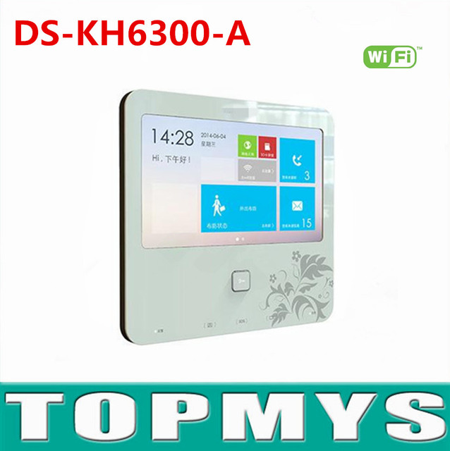 Indoor Video Intercom DS-KH6300-A with 7''Touch Screen Digital Wifi Touchtone Indoor unit Support Phone App