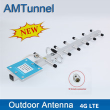4G Lte Yagi Antenne 13dBi 4G 1800Mhz Buitenantenne N Vrouwelijke DCS1800Mhz Externe Antenne Voor Mobiele Signaal booster Repeaters