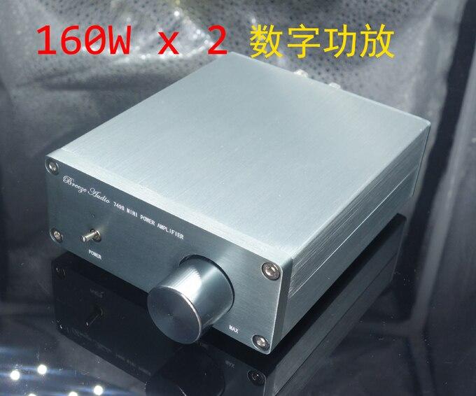 TDA7498E BTL Class D Digital Amplifier Audio HiFi 2.0 Channel Power amp 160W*2 feixiang fx1002a 2 x 160w 2 channel digital hi fi amplifier set silver black