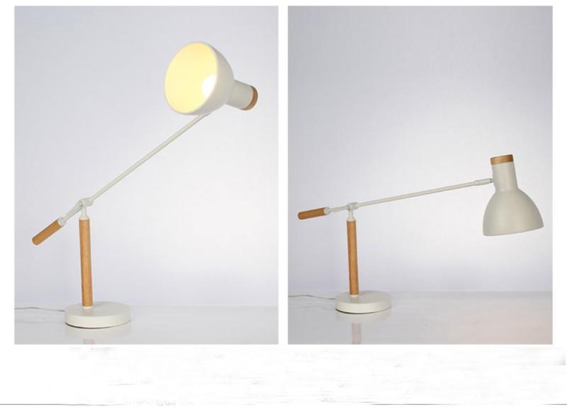 Gratis verzending moderne stijl houten tafellamp wit kleur tafel