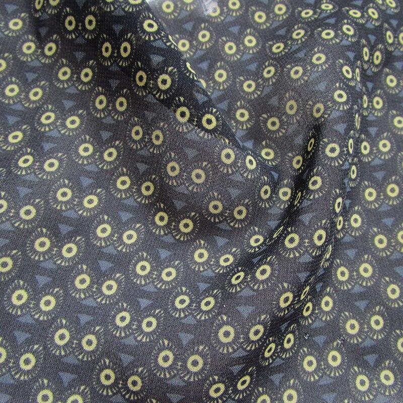Acheter 2018 Nouveau Français oeil de Hibou Imprimé En Mousseline de Soie Tissu Polyester En Mousseline de Soie Tissu pour Vêtements designer tulle robe matériel de Tissu fiable fournisseurs
