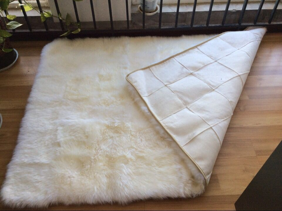 Free Shipping 200 160cm Soft Natural New Zealand Sheepskin