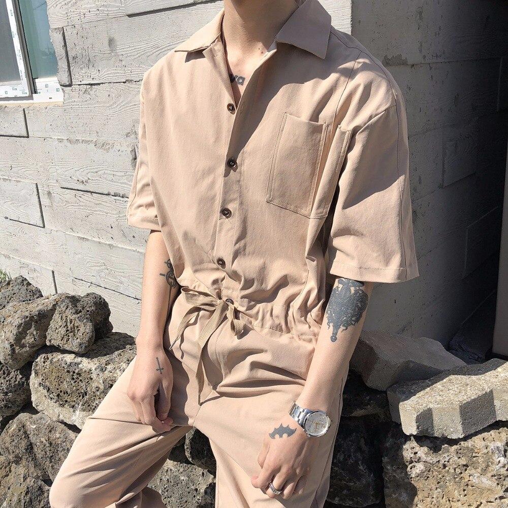 2018 Neue Männer Kleidung Friseur Mode Dünnes Einteiliges Kleid Khaki Overall Overalls Plus Size Kostüme StäRkung Von Sehnen Und Knochen