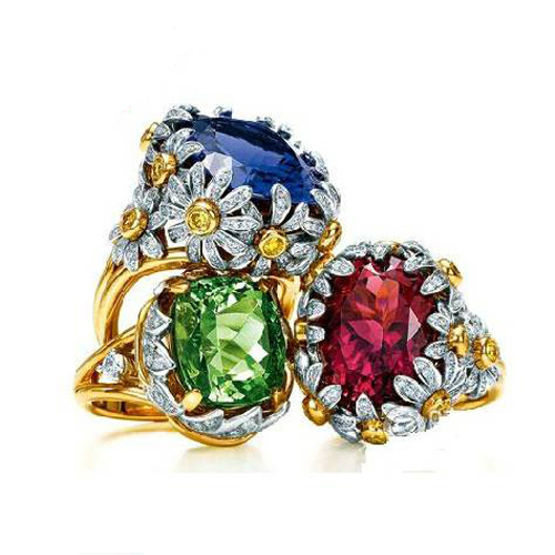 Qi Xuan_Fashion bijoux grand Ex coupe de luxe chrysanthème Rings_S925 argent massif luxe grandes Rings_Factory directement ventes