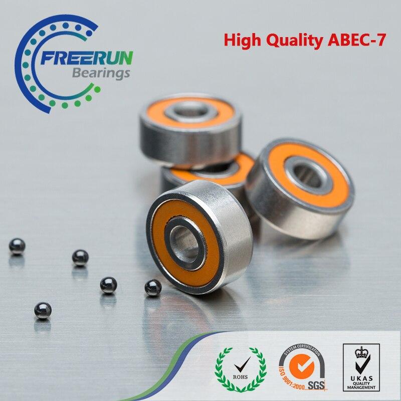 Hybrid Ceramic Bearings ABEC-7 Orange Complete Set: 3x10x4; 5x11x4 2 1