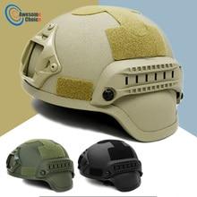 Качественный Тактический шлем для страйкбола, снаряжение для пейнтбола, защитная маска для лица, шлем с креплением для спортивной камеры ночного видения, 3 цвета