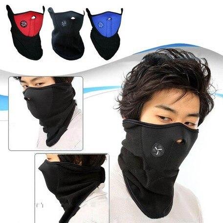 Biker accessoires vélo moto ski noir bleu lu couleurs avertisseur visage et  cou veil garde masque