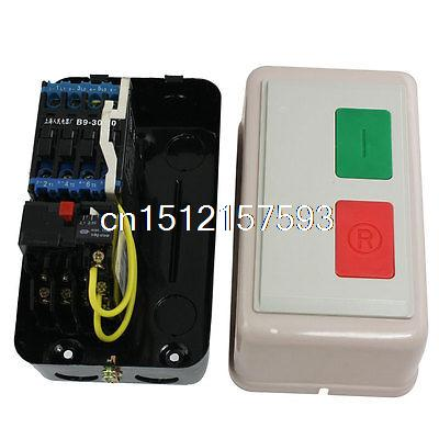 AC 380V 2.1-3A 13HP Three Phase Motor Start Stop Control Magnetic Starter three phase ac contactor motor control magnetic starter 36v coil 3a 1 5kw