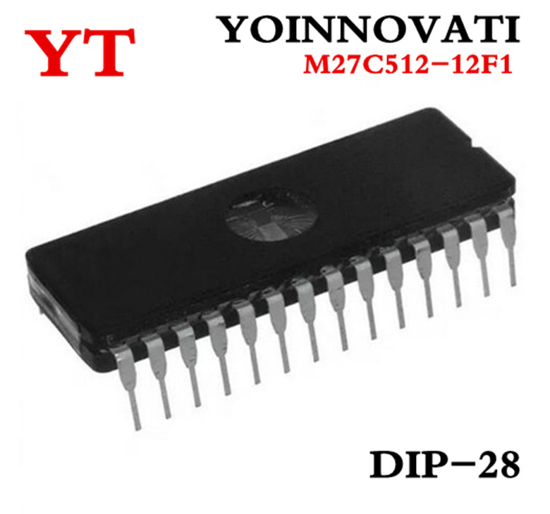 Free Shipping 50pcs lot M27C512 12F1 27C512 EPROM UV 512KBIT 120NS DIP 28 IC best quality