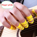 Folk Guitar Finger Pick Parts 4 Pieces Musical Delrin Video Evaluation Recording Mediators Accessories Alaska Color Ukulele
