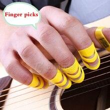 Folk Guitar Finger Pick Parts 4 Pieces Musical Delrin Video Evaluation Recording Mediators Accessories Alaska Color Ukulele