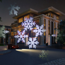 outdoor lighting Waterproof IP65 white led snowflakes light projector Christmas Lighting Landscape Led for Halloween, Party