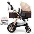 Дизайнер детские коляски Высокого Пейзаж ВНЕДОРОЖНИК Дизайн Детские Коляски Складной 4 Колеса Buggiest 3 в 1 Общих Младенцы Перевозки
