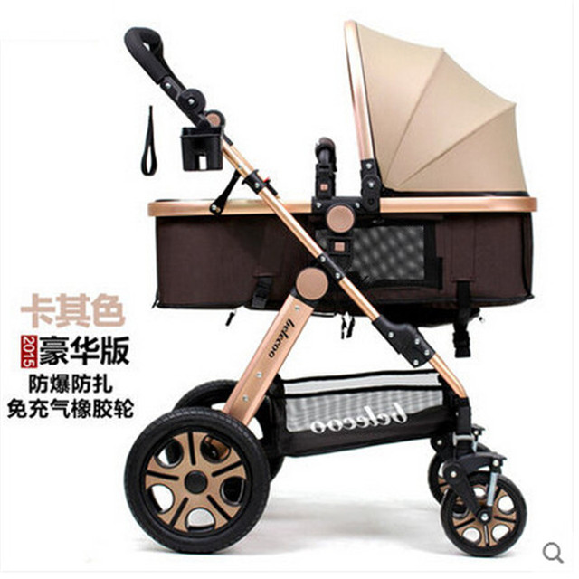 Diseñador de bebé cochecito Paisaje de Alta Diseño TODOTERRENO Buggiest Plegable 4 Ruedas Cochecitos de Bebé 3 en 1 General Bebés Carro