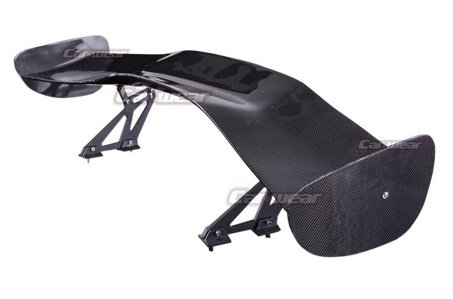 Универсальный Задний спойлер из углеродного волокна GT с тремя ящиками, спойлер для крыла багажника и губ, автомобильный спойлер для губ 3DK 3D