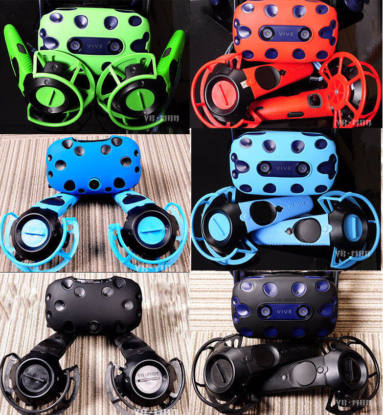 1 Set VR Controller Handle Helmet Glasses Silicone Cover Shell For Htc Vive Pro