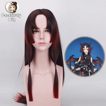 Onmyoji Beauty Tip Layered Straight Long Cosplay Wig Costume Synthetic Hair Anime Halloween Party Wigs For Women 80cm цена 2017