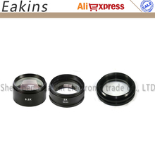 Best price 3pcs/lot 0.5X 1X 2X Auxiliary Objective Lens FOR STEREO ZOOM MICROSCOPE Microscope Accessoires
