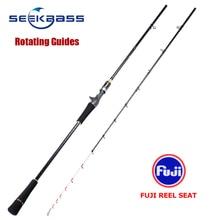 SeekBass 2.1m 40 120g אור איטי מפזזי מוט פחמן חכת דיג מסתובב מדריכי פוג י אדום דניס סנאפר טאי גומי מוט