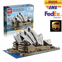 LEPIN 2989PCS Creator Sydney Opera House Model Building Kits Minifigures Blocks Bricks Compatible Toys Gift 10222