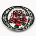 Розничная Распределить Западная Розы Поясная Пряжка BUCKLE-3D059 Бесплатная Доставка