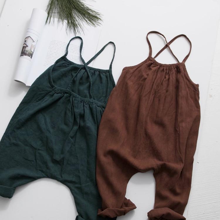 Aliexpress.com : Buy Korean Baby Girl&boys Overalls Linen ... Korean Toddler Clothes