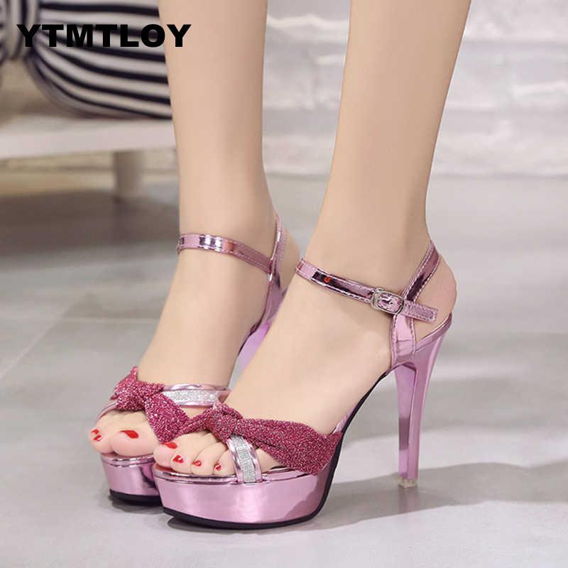 Women Sexy Shoes Woman Pumps High Heels Platform Fashion Comfortable Party Female Peep Toe  Wedding  Platform  Tenis