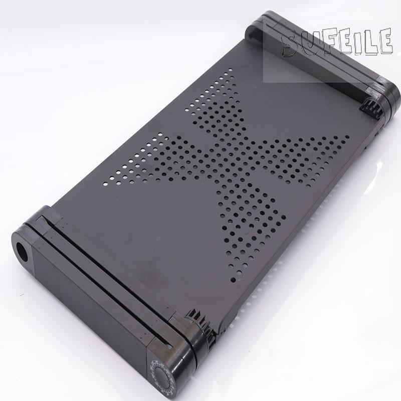 SUFEILE Składane czarne biurko na laptopa Przenośni uczniowie Naucz - Meble - Zdjęcie 4
