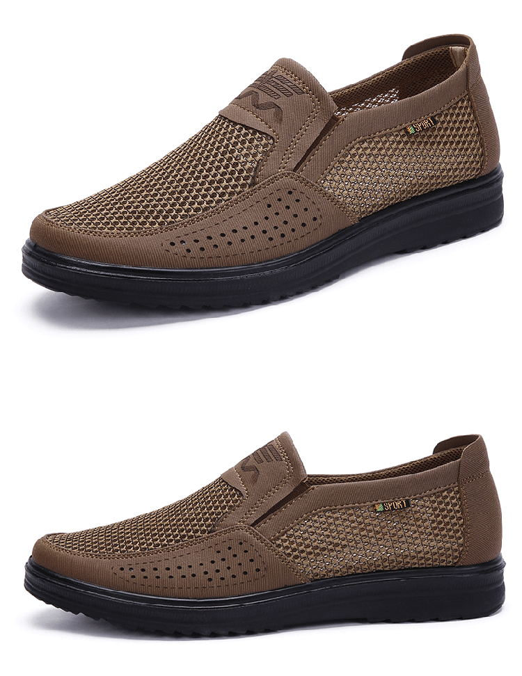 HTB15bvkQwHqK1RjSZFPq6AwapXaM Merkmak 38-48 Men'S Casual Shoes Men Summer Style Mesh Flats For Men Loafer Creepers Casual High-End Shoes Very Comfortable sho