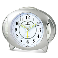 Creative UFO MODEL Alarm clock Non Ticking with Night light Easy to Set Battery Operated Quartz for Bedrooms Desk Travel clock