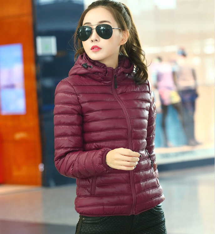 fb32a31c768 Plus size women ultra light down jacket 2015 winter coat womens hooded  jackets ladies colorful winterjas dames parka femme L 4XL-in Parkas from  Women's ...
