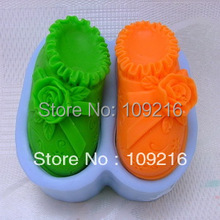 wholesale 1pcs Children s Shoes H0028 Silicone Handmade Soap Mold Crafts DIY Mold