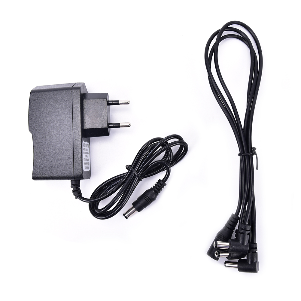 9v dc 1a guitar effects power supply source adapter power cord leads 3 daisy way chain cable. Black Bedroom Furniture Sets. Home Design Ideas