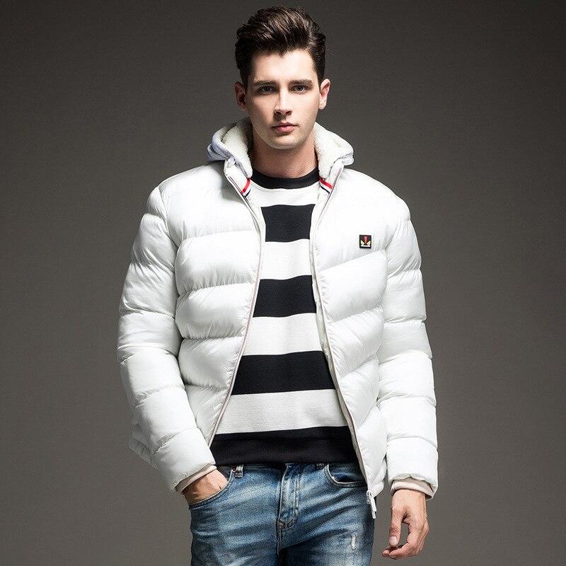 Для мужчин куртка одноцветное Цвета осенняя и зимняя куртка Для мужчин с капюшоном плотная одежда мужской Повседневное молнии Пальто для б...