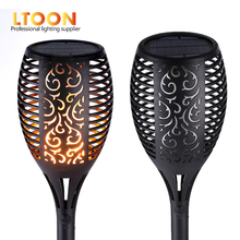 [LTOON]Solar Flame Flickering Garden Lamp Torch Light IP65 Outdoor Spotlights Landscape Decoration Led Lamp for Garden Pathways