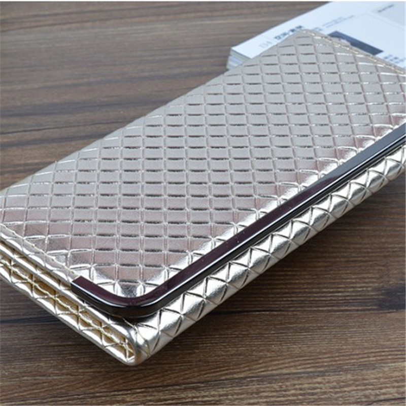 Quality PU Women Clutches Shoulder Bag Metal frame Women Square grid Handbag Fashion Clutch Purse Metal Chain Wallet Hand bag  2016 fashion mini laser metal chain letters pu leather clutch purse wallet chain messenger bag shoulder bag handbag 6 colors