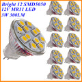10X 3W MR11 LED Spotlight Bulb 12V DC Mini Cup GU4 Lamp 12 SMD5050 Warm White Replace Halogen 20W for Home Lighting