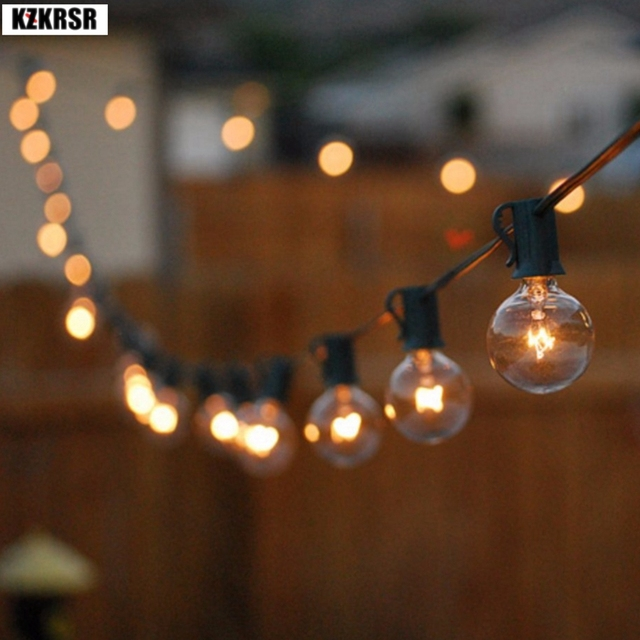 3m 7 5m G40 Globe Bulb Christmas Outdoor Lights With Clear Ball Bulbs Hanging Umbrella Indoor Led Wedding Light