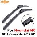 Qeepei wiper blades para hyundai i40 2011 em diante 26 ''+ 16'' de alta qualidade iso9001 borracha natural limpar frente brisa f03