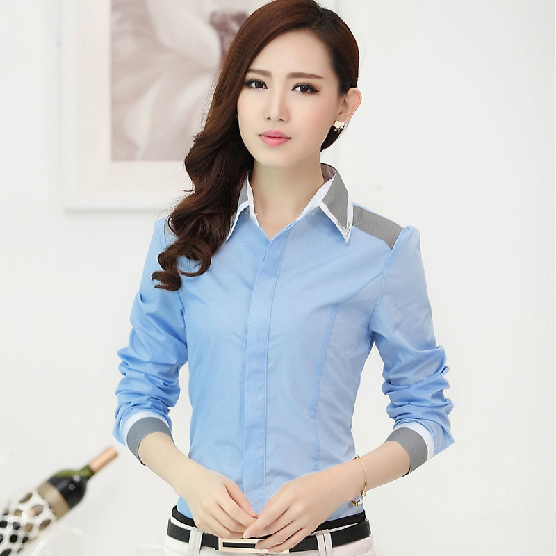 e297da015647 Casual Blouse Shirt Long Sleeve Blusas Femininas Roupas Woman Clothes Body  Ladies Work Wear Female Office Shirt Women Tops CY116-in Blouses & Shirts  from ...