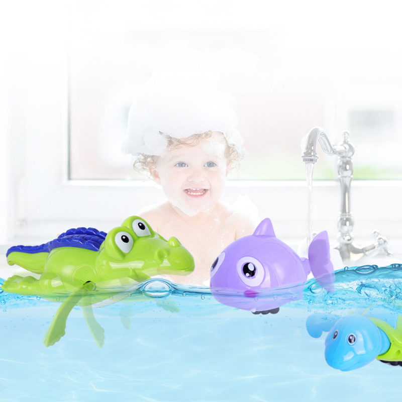 New-Cute-Cartoon-Animal-Tortoise-Shark-Classic-Water-Toy-Baby-Bath-Toys-Infant-Swim-Chain-Clockwork (2)