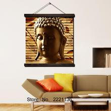 Golden Bamboo Buddha HD Printed Painting Scroll Paintings Wall Art Hanging Framed Canvas Modern Home Decoration