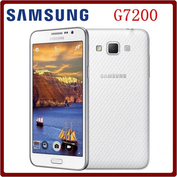 Цена за Оригинальный Разблокирована Samsung Galaxy Grand Max G7200 16 GB ROM 1.5 ГБ RAM 5.25 Дюймов LTE 13.0MP Dual SIM Карты Смартфон Восстановленное