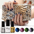 Fashion Color Changing Magnetic Gel Nail Polish Soak Off Cat Eyes Purple Nail Gel Lacquer Need Base Top Gel Polish