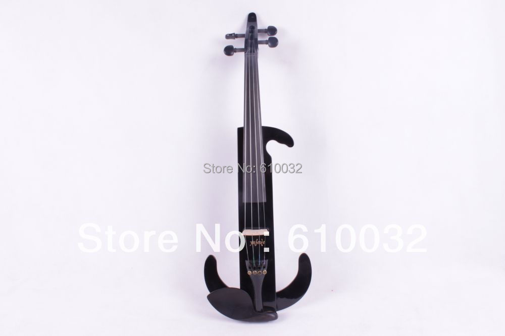 4/4 Electric Violin Solid wood 9 --28#  black  color  4string one 4 string 4 4 violin electric violin acoustic violin maple wood spruce wood big jack green color