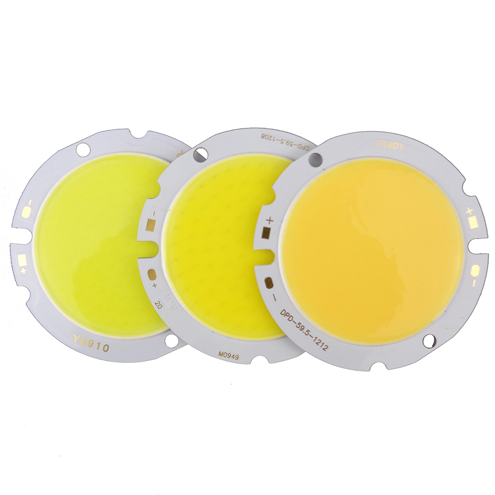 30W Round COB LED SMD Chip DC36-39V  High Power Lights Lamp Bulb Diameter 59.5mm Warm White Pure White for home lighting 2pcs high quality 30w cold warm white cob high power led stripe led light chip emitting diode bulb 3000lumen 800ma 36 39v 2pcs lot